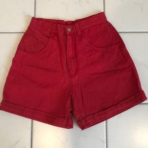Bill Blass Red Shorts
